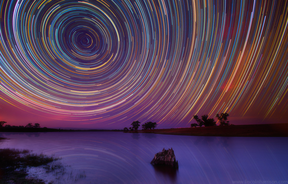 stars, startrails, startrail, circumpolar, long exposure, nigh, night sky, galaxy, nebula, lincoln harrison, astrophotography, astro, ad astra