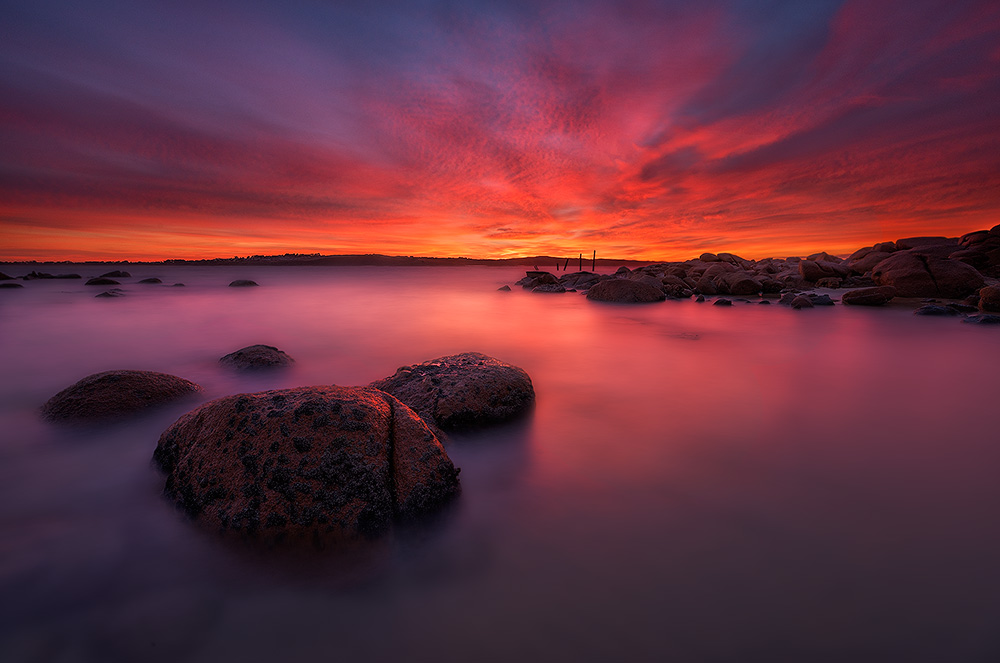 phillip island, sunrise, old granite quarry, seascape, lee filters, long exposure, lincoln harrison, d800e, 14-24, gitzo