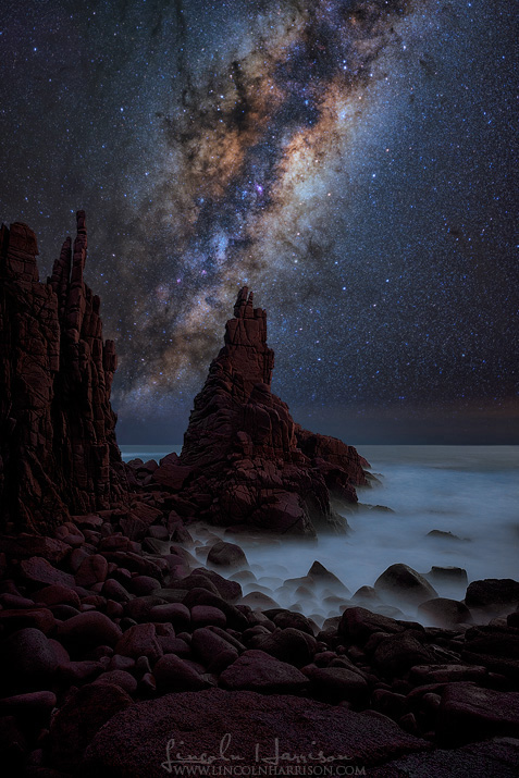milky way over the pinnacles phillip island