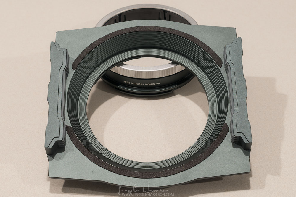 Gasket transferred from the protective plate to the face of the holder.