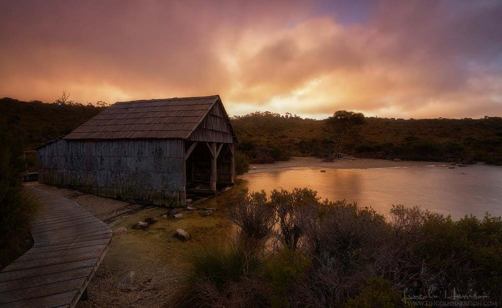 Boathouse, Lake Dove, Cradle Mountain
