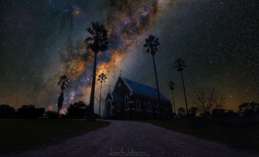 Milky Way Over Axedale Church