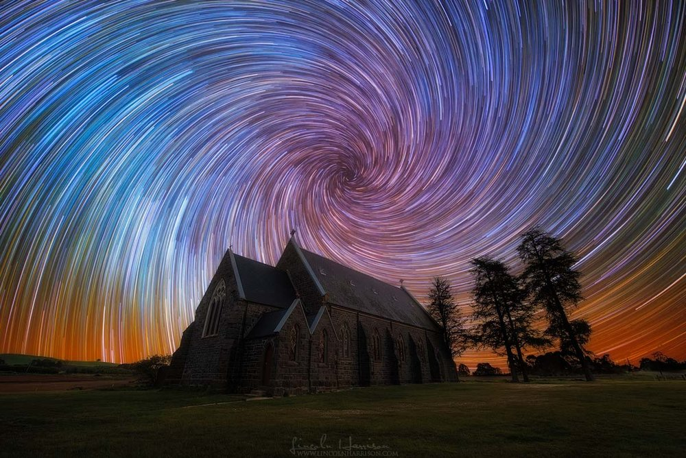 Zooming Machine Startrail