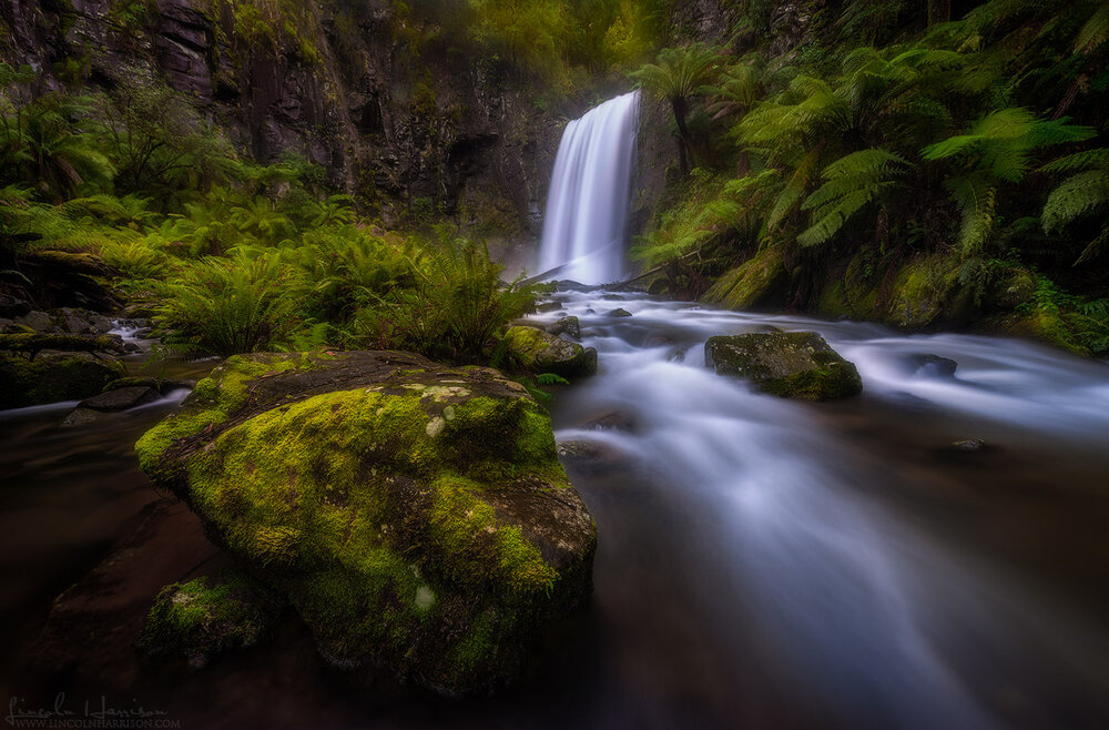 Hopetoun Falls in the Otway Ranges after a heavy rain