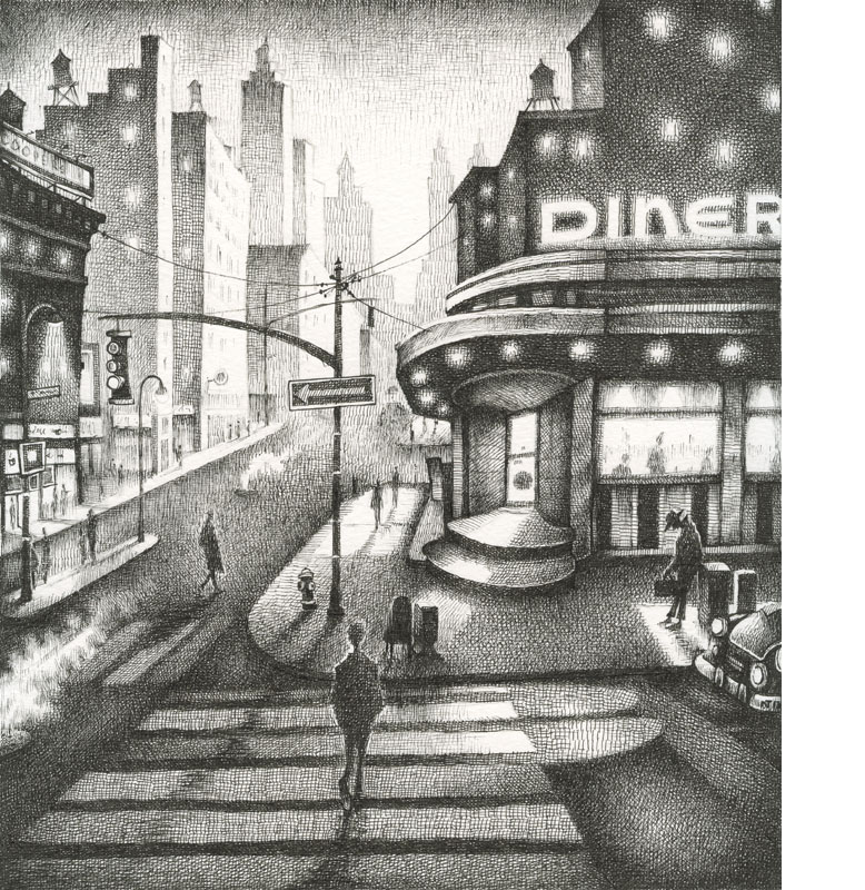 Diner at Dusk, New York