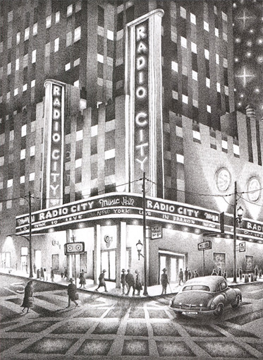 'Radio City New York'    A6 Greetings Card