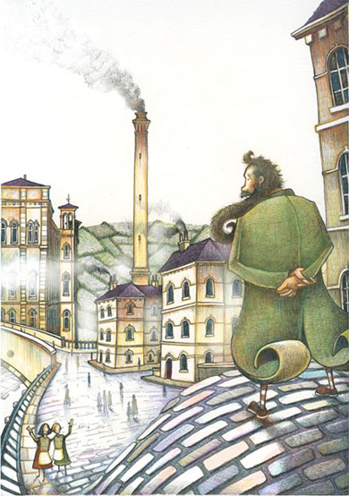 'Day Off From The Mill'  (Saltaire / Titus series)    A6 Greetings Card