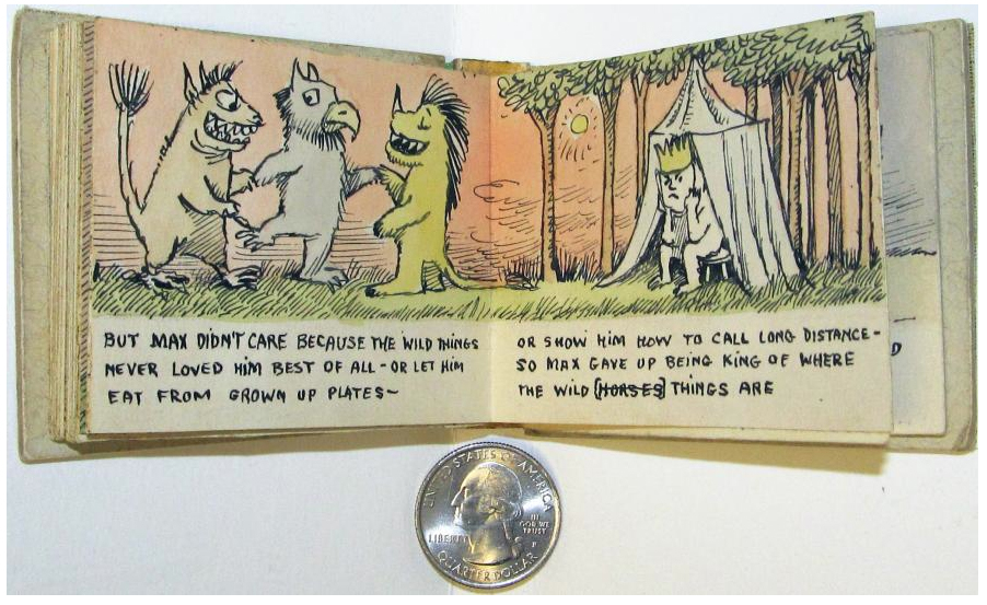 A beautiful little mock-up for Where the Wild Things Are