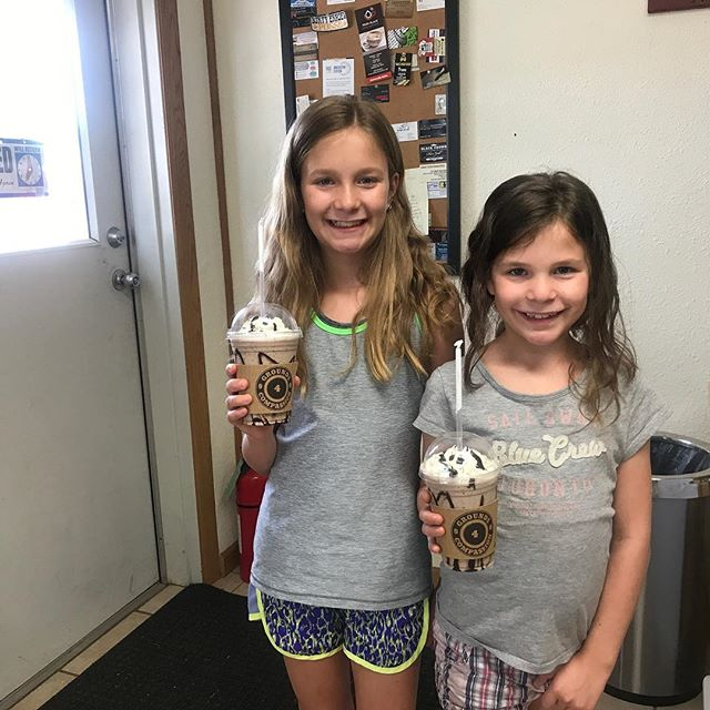 We were blessed to have some very special guests join us today!!! There first frozen hot chocolate!! #coffeeroaster #churchcoffee #espresso #latte #frappe #premiumcoffeewithconviction