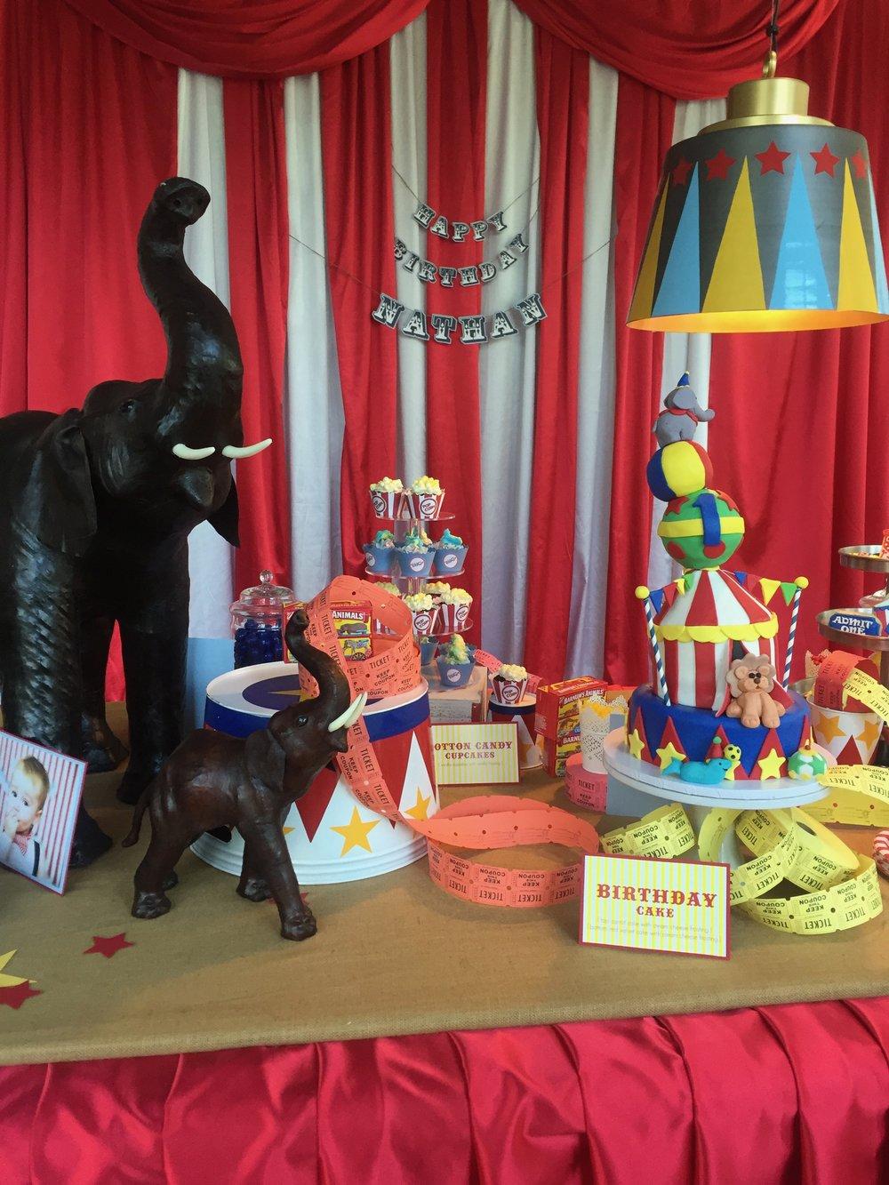 Nathan's Circus Birthday
