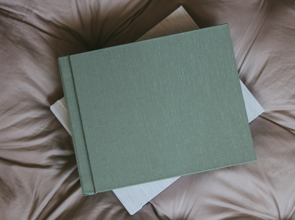 Choose from fine Japanese silk fabrics or natural linens. Pistachio and almond are shown here.