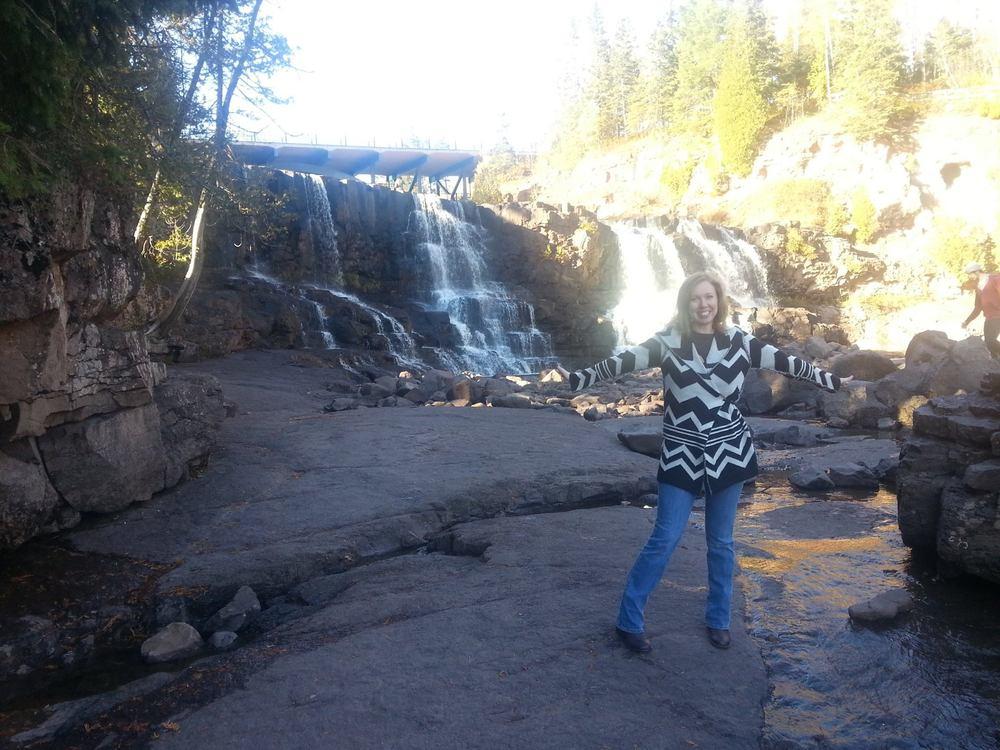 Rebekah at Gooseberry Falls