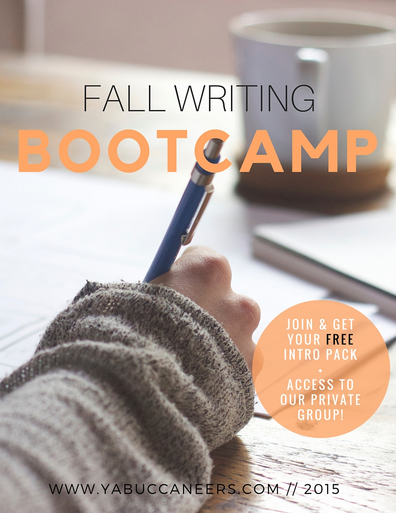 Prepare for NaNoWriMo! Join the YA Buccaneers Fall Writing Bootcamp and get ready to write your novel in November. What is bootcamp? A FREE month-long writing event for writers. Connect with other writers, get motivated through informative emails, join word sprints - and meet your writing goals! Click through to learn more!