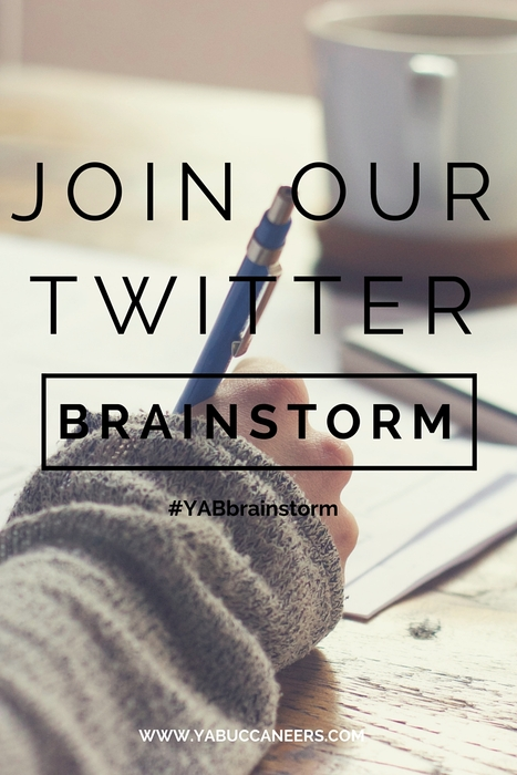This is going to be a new way we help our Fall Bootcampers out of a jam. The YAB Brainstorm sessions on Twitter will let our Bootcampers post a problem with their current novel, and ask for help with ideas. Using the hashtag #YABbrainstorm, you can offer up a solution, post a writing problem, or send a fellow writer some inspiration.