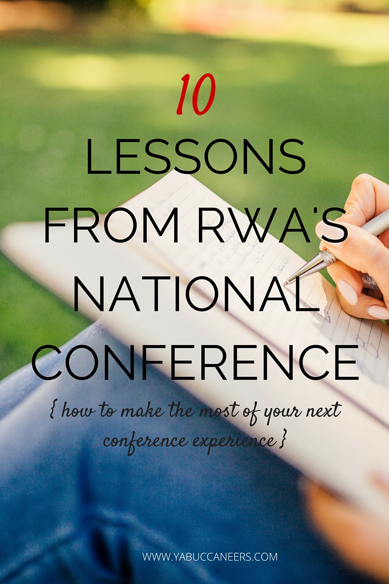 YA writer Stephanie Scott shares 10 lessons she learned from attending the Romance Writers of America National Conference. Read Stephanie's post to learn how to make the most of your next writers' conference experience!