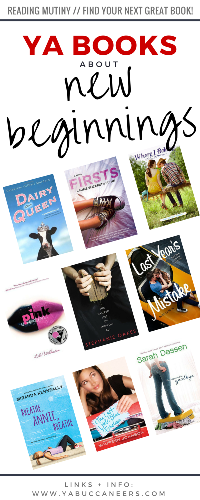 Looking for a new book? Check out this round up of YA books about new beginnings: from a new town, a new school, or a new way of life to new love and relationships. Get the full list and links to the books on YA Buccaneers! Click through >>>>