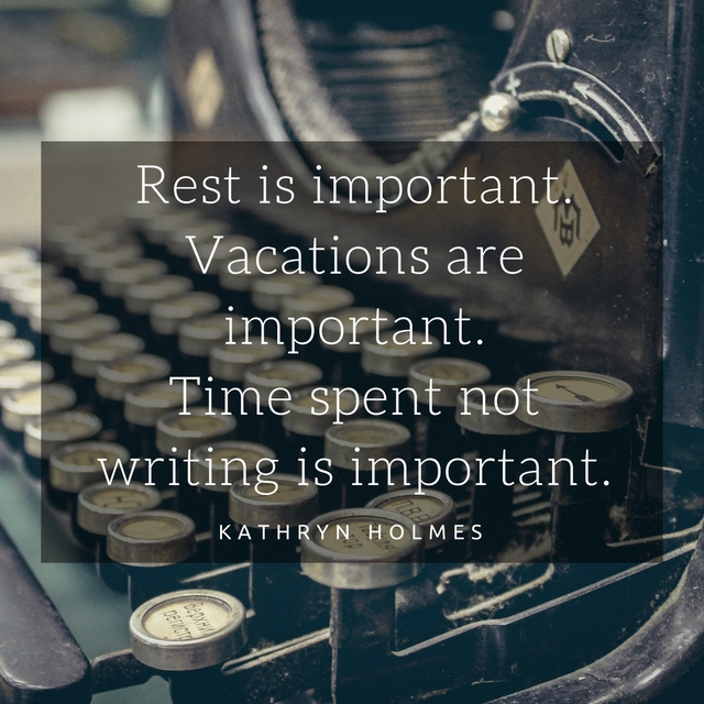 Are you getting enough writing rest? Taking a break can make your writing stronger.