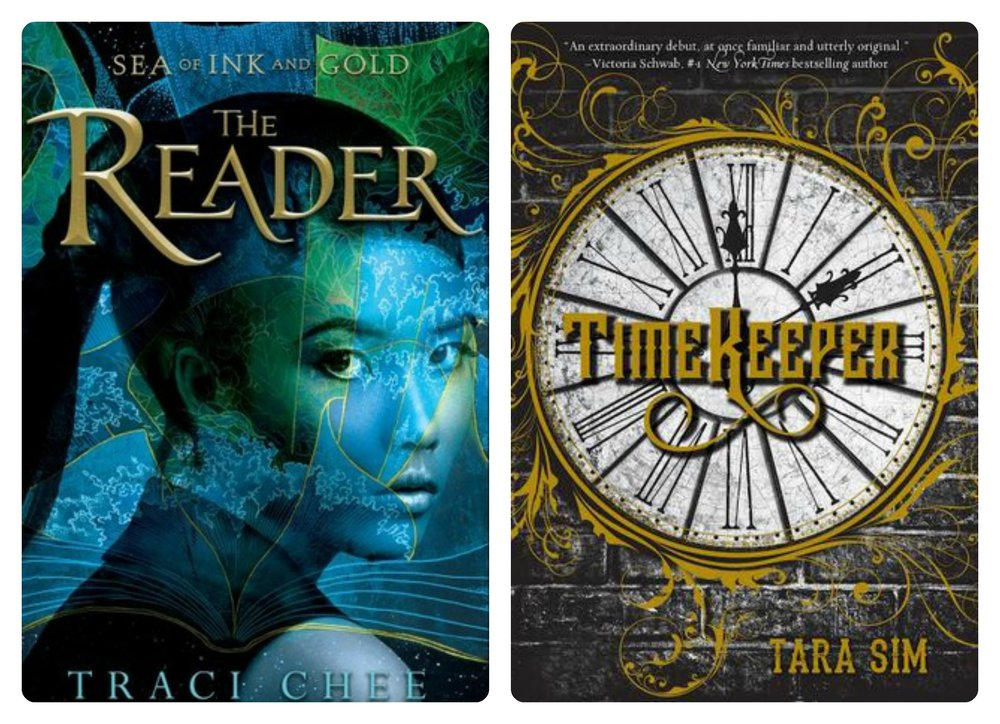 THE READER by Traci Chee, and TIMEKEEPER by Tara Sim.