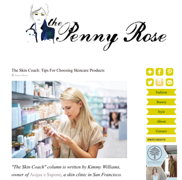 Tips For Choosing Skincare Products from The Skin Coach | The Penny Rose