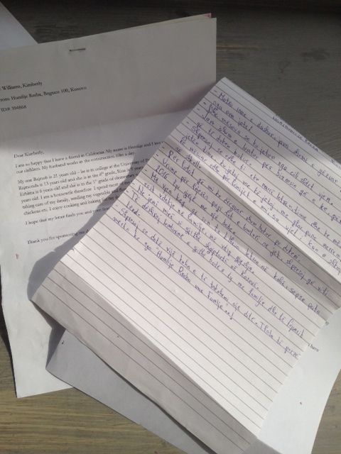 Letters from our sponsor sister for Women for Women International | Acqua e Sapone Acne Treatment Center SF