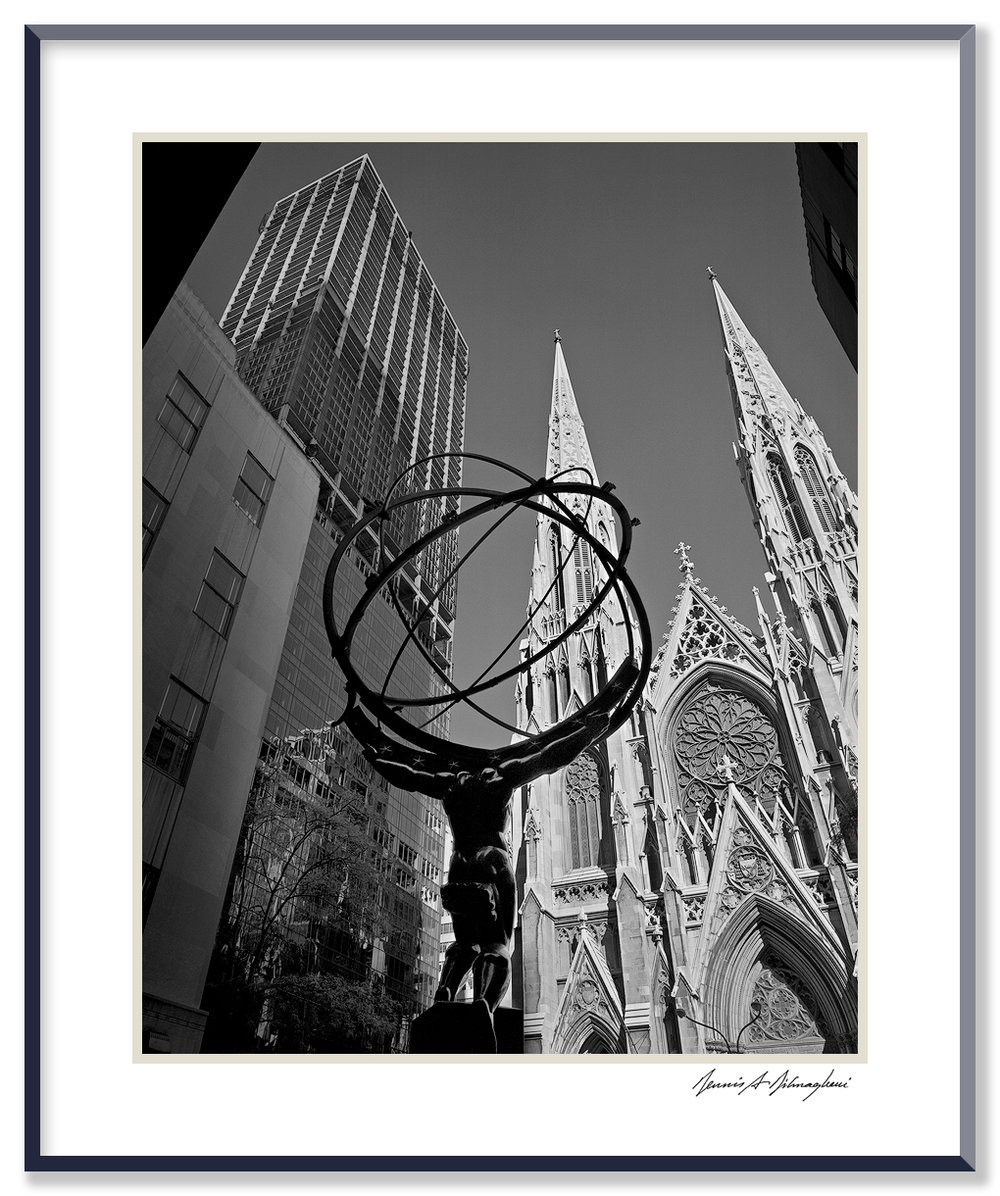 St. Patrick's Cathedral - New York, New York   Location: 5th Ave at Rockefeller Center. The building under construction is Olympic Tower.