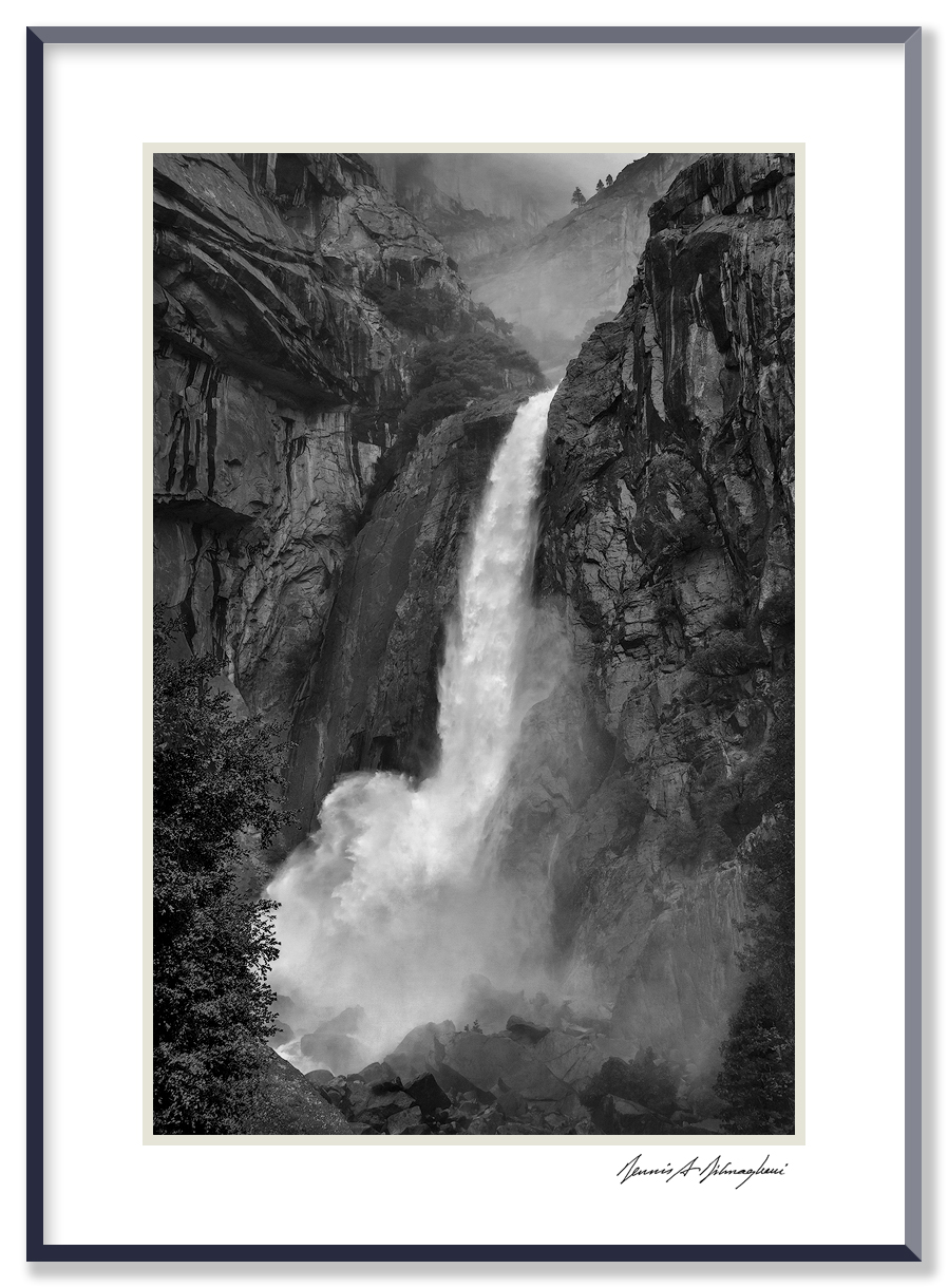 Yosemite Falls - Yosemite National Park - California   Made in the midst of a heavy rainstorm  .
