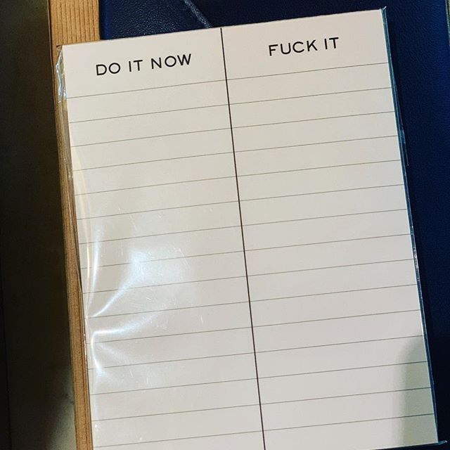 New notepad.
