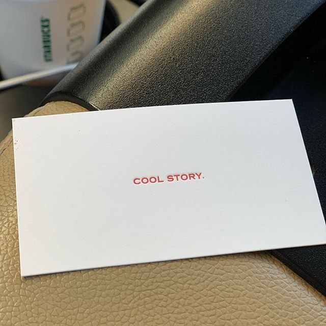How's your week going? Tell us your #coolstory in the comments.  #letterpress #getcarded #twowords #funnycards #cardsagainsthumanity