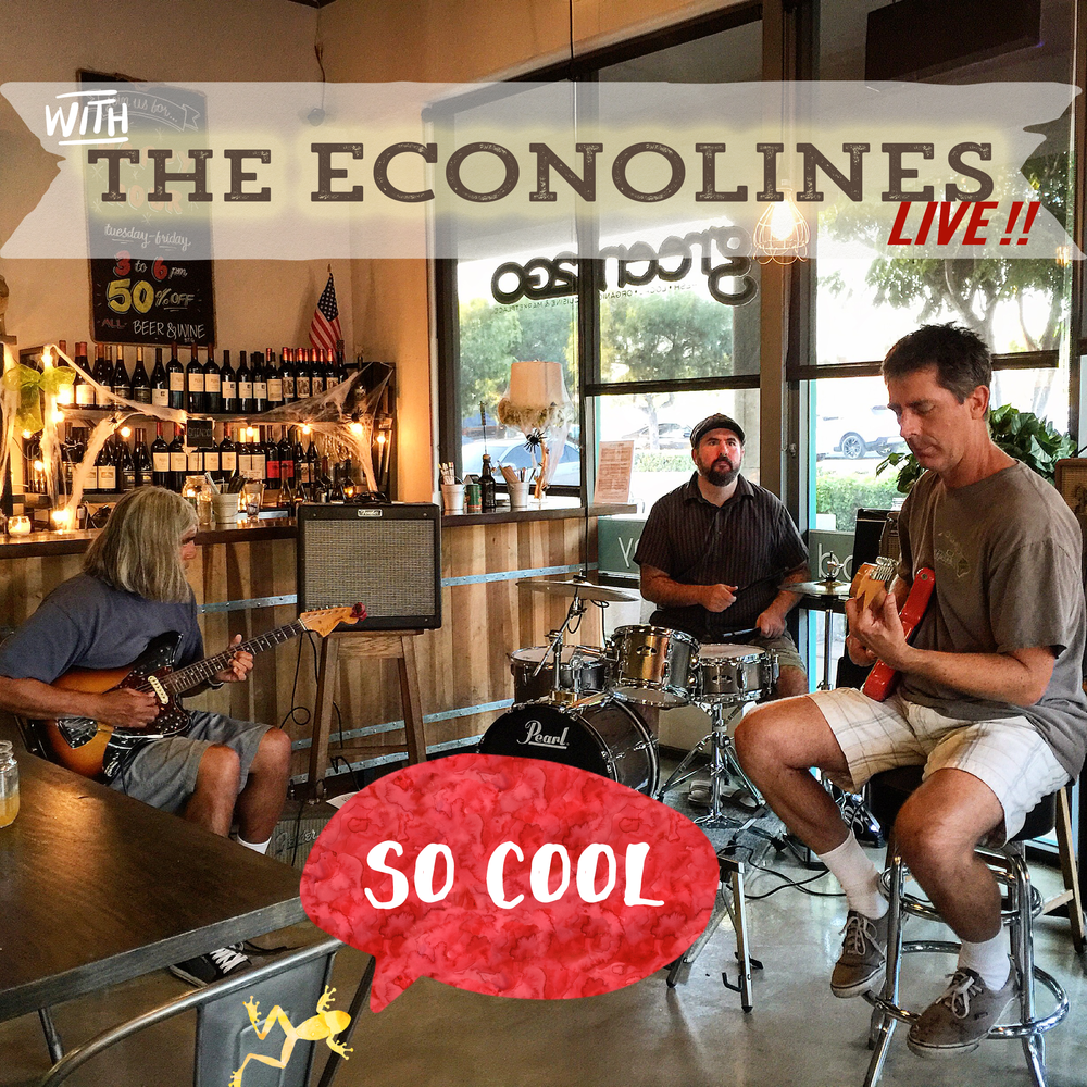 The Econolines Surf Band are long time favorites at green2Go. Our guests love when they play at the restaurant.