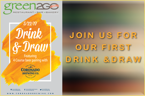 green 2 go Drink and Draw