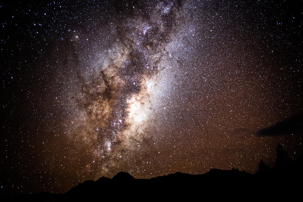 A view of the night sky from Franz Joseph, NZ