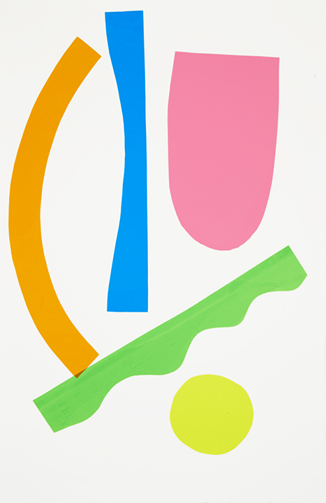 Green Yellow Pink Orange Blue, 2015 Monoprint on Paper 26 x 40 Inches (plus framing) $3,600