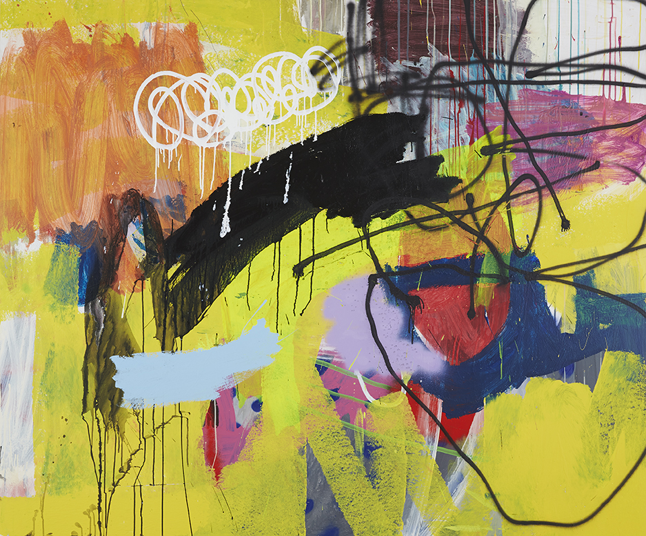 Roller (Yellow), 2015 60 x 72 inches Mixed Media on Wood $11,000