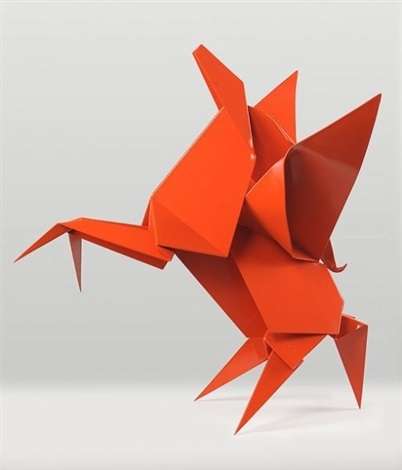 Pegasus,  2009 Powder Coated Steel; variable sizes 20 x 18 x 15 inches