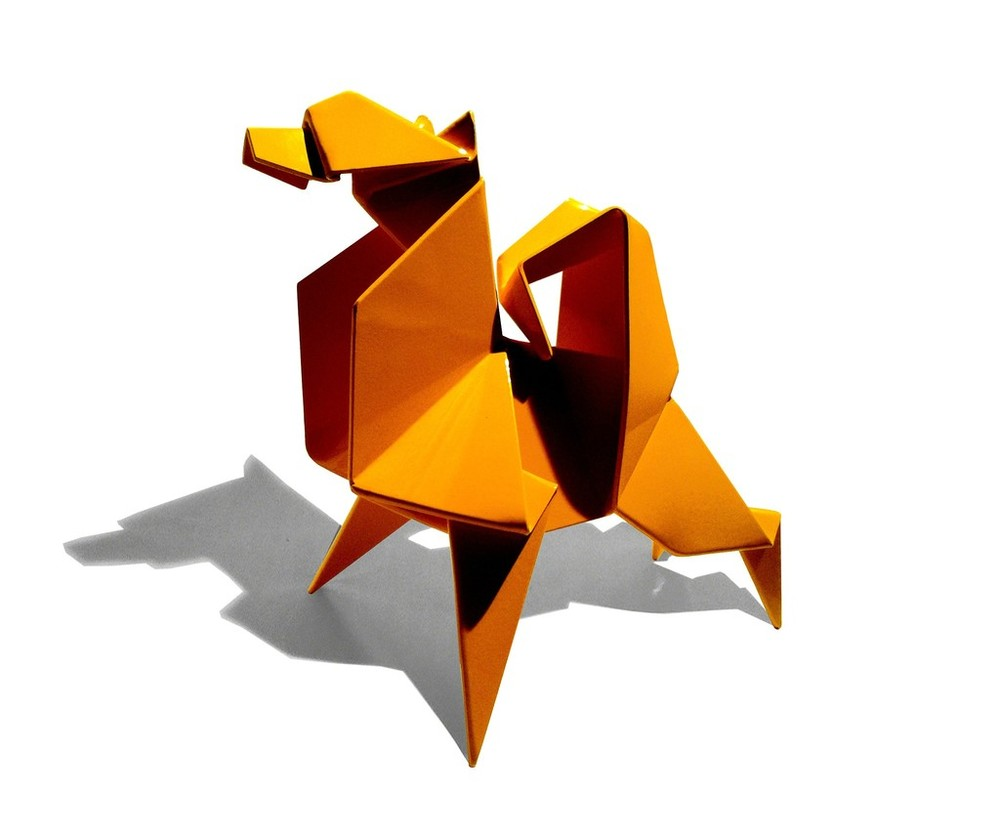 Foxy,  2009 Powder coated steel; variable sizes 28 x 20 x 30 inches