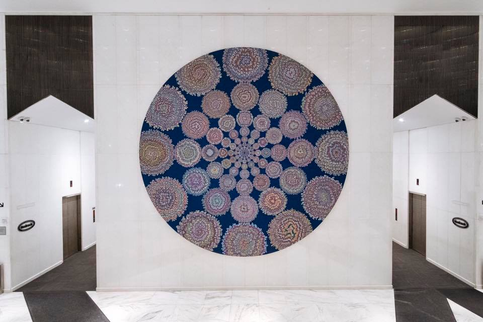 Kelsey Brookes Golden Ratio, 2016 Acrylic on canvas 19 foot diameter