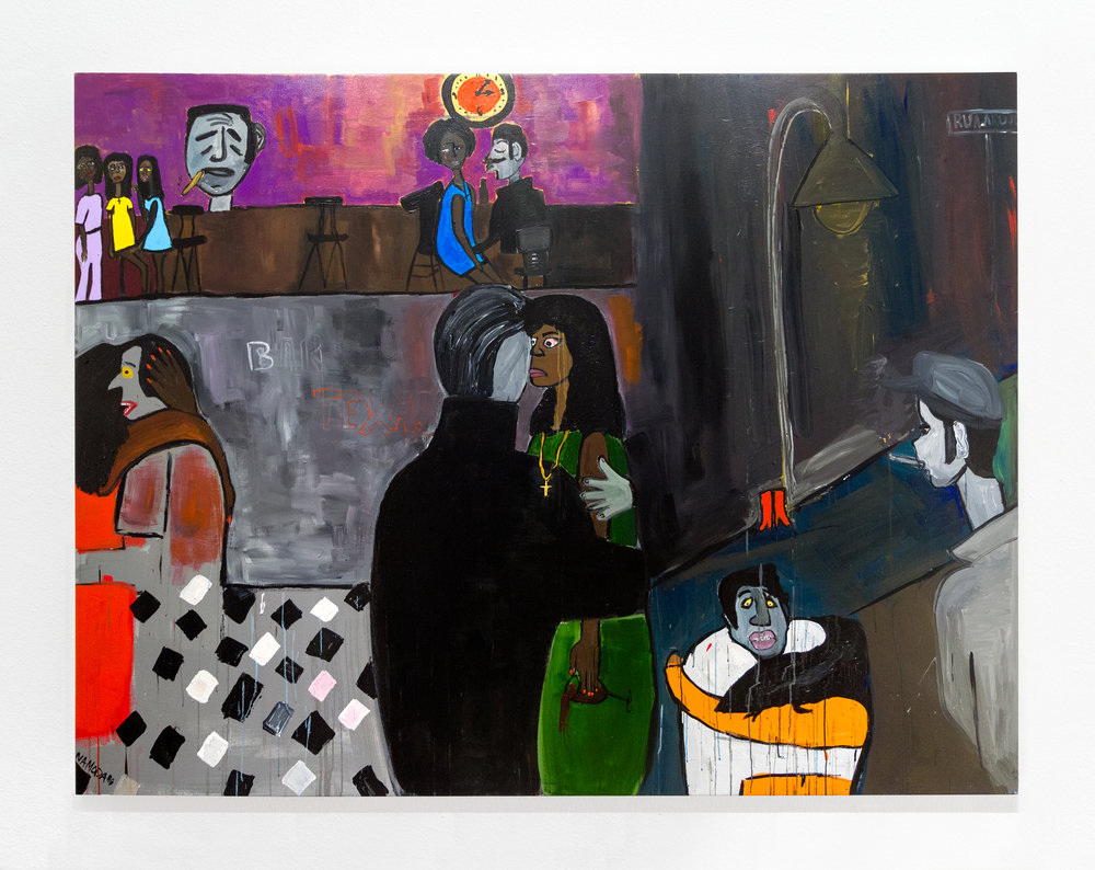 Cassi Namoda:   The 3 Marias at 1:15AM , 2018 Acrylic on canvas 71.50h x 94.25w inches