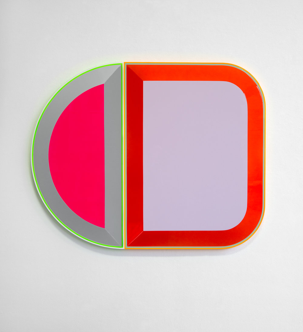 Beverly Fishman  -  Untitled (A + C),  2016 Urethane paint on wood 38h x 47.50w x 2.25d in