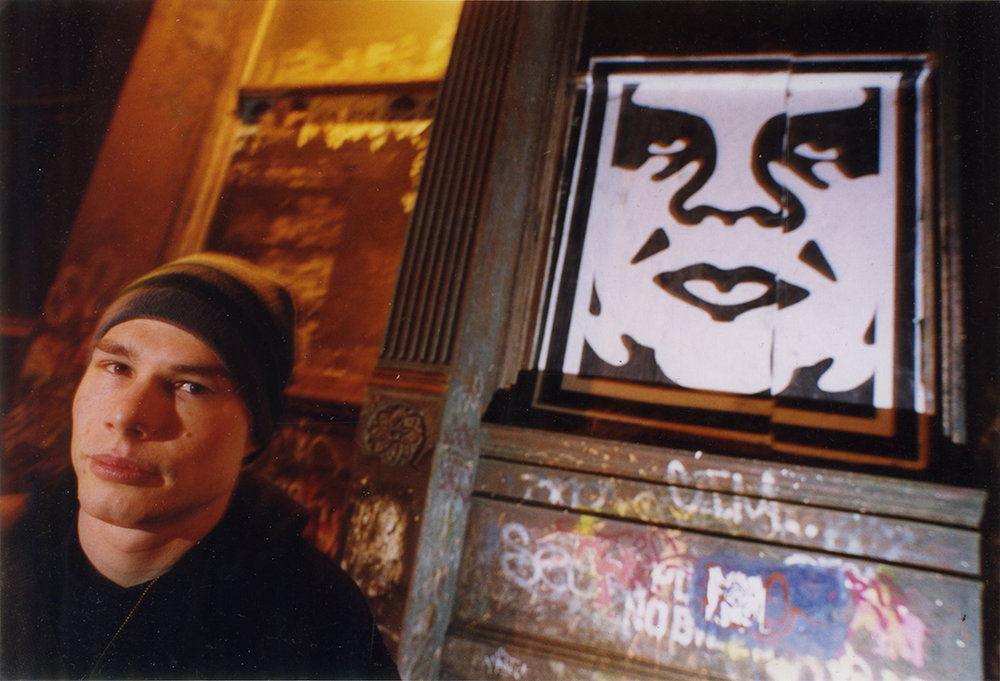 Shepard Fairey in San Francisco, 1999.