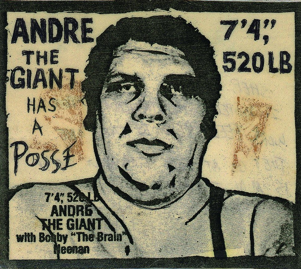 Original Andre the Giant Has a Posse Sticker