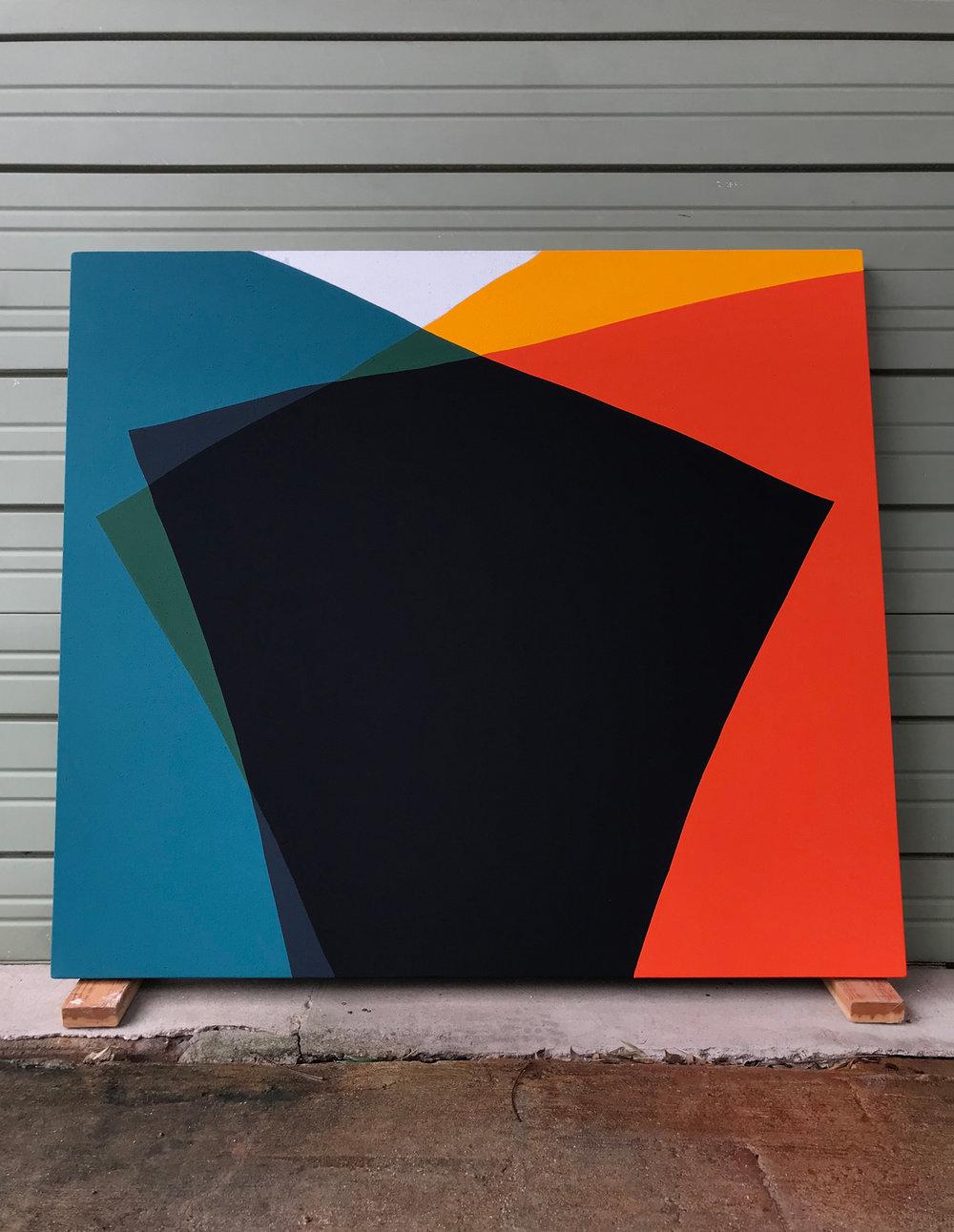 Paul Kremer:  Siren 05 , 2018 Acrylic on canvas 48h x 54w inches