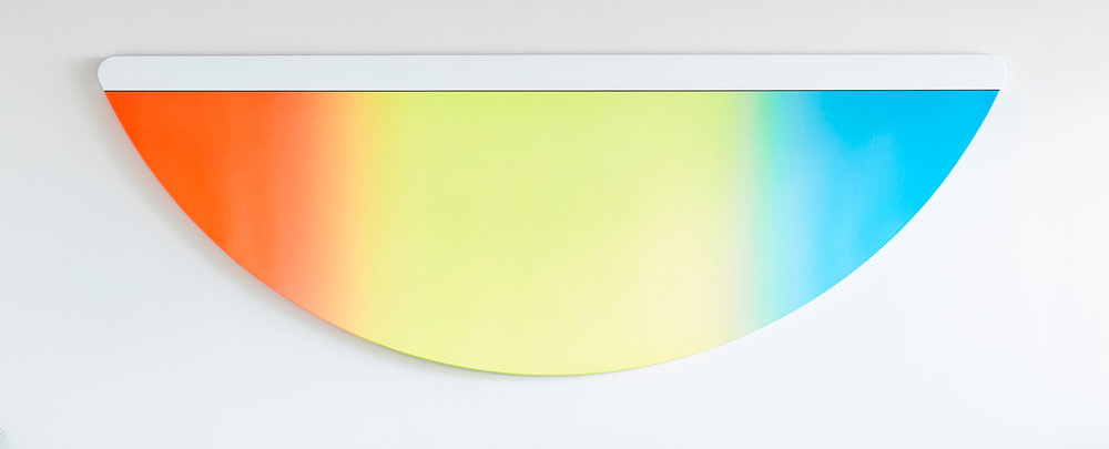 Greg Bogin:   Sun Up/Sun Down (for GL) , 2016 Acrylic and urethane on canvas 98h x 34w inches
