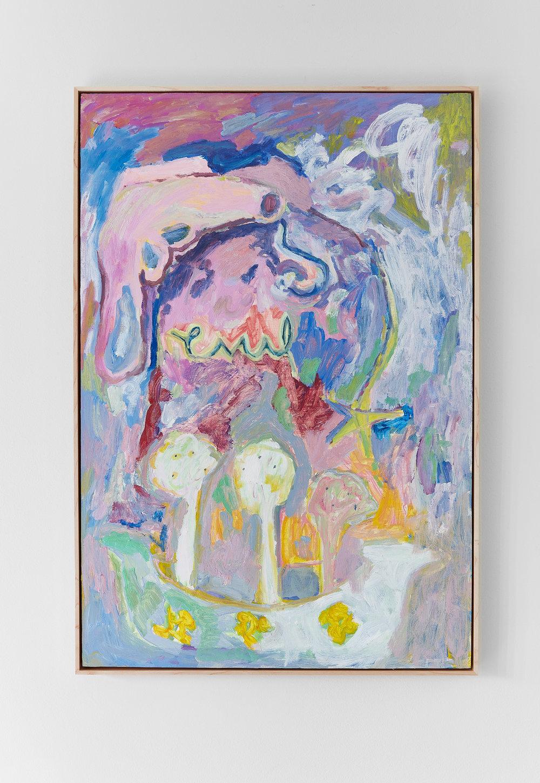 Adrianne Rubenstein:   Casserole , 2017 Oil on panel with artist frame 32h x 23w inches