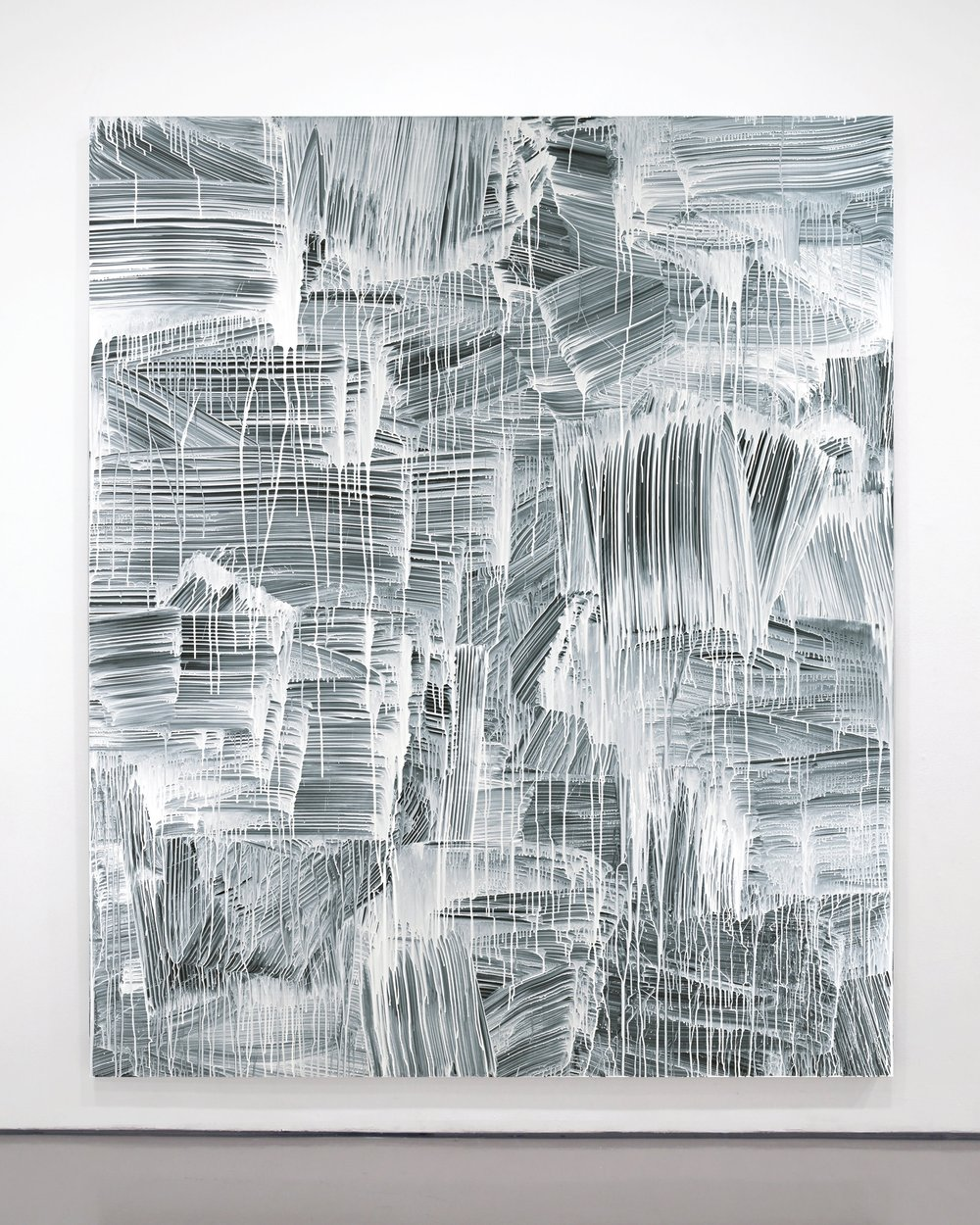 GregFadell  -  Nothing , 2012 Custom formulated acrylic on cotton 93h x 78w inches
