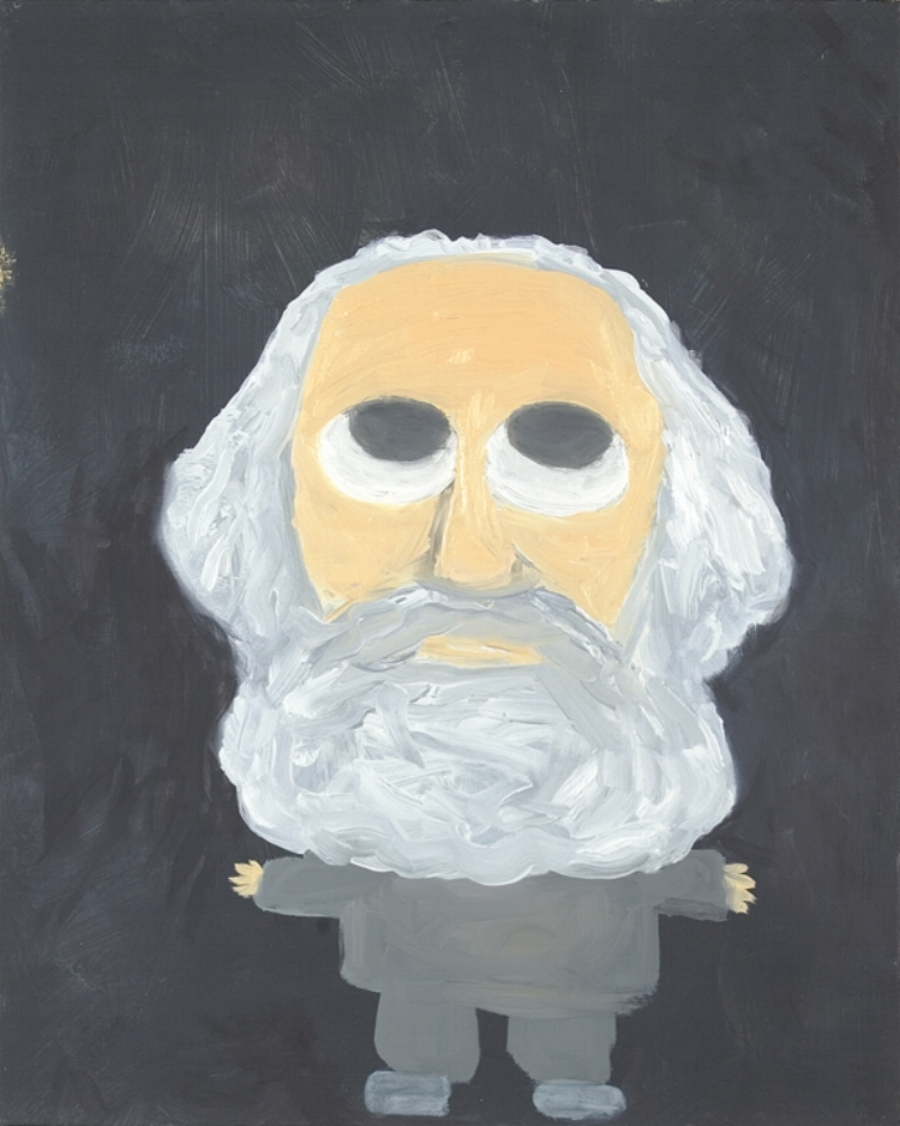 Scott Reeder  -  Cute Communist Marx , 2007 Acrylic on canvas 20h x 16w inches