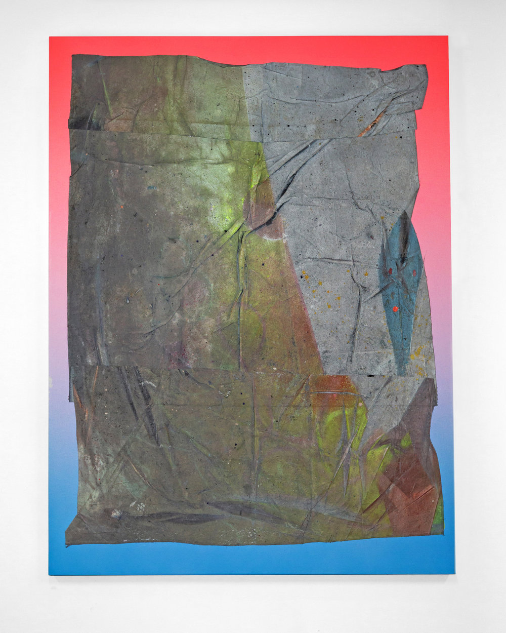 Jason REVOK  -  Self_Portrait_18/19_A,  2019 Synthetic polymer & mounted drop cloth on canvas 96h x 72w inches