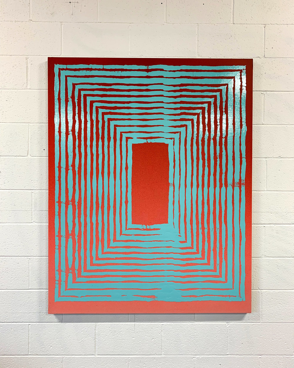 Jason REVOK  -  Hollow_Loop_small1/19_ B, 2019 Acrylic and synthetic polymer on canvas 60h x 48w inches