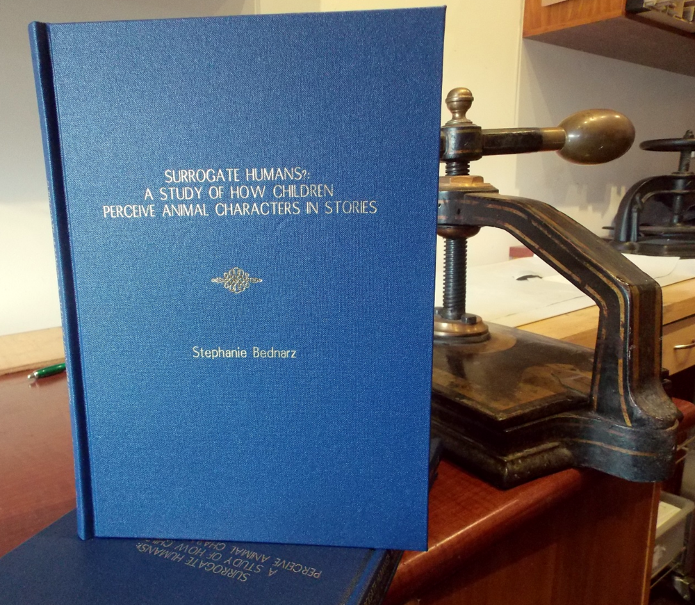 Hard cover thesis with embossing