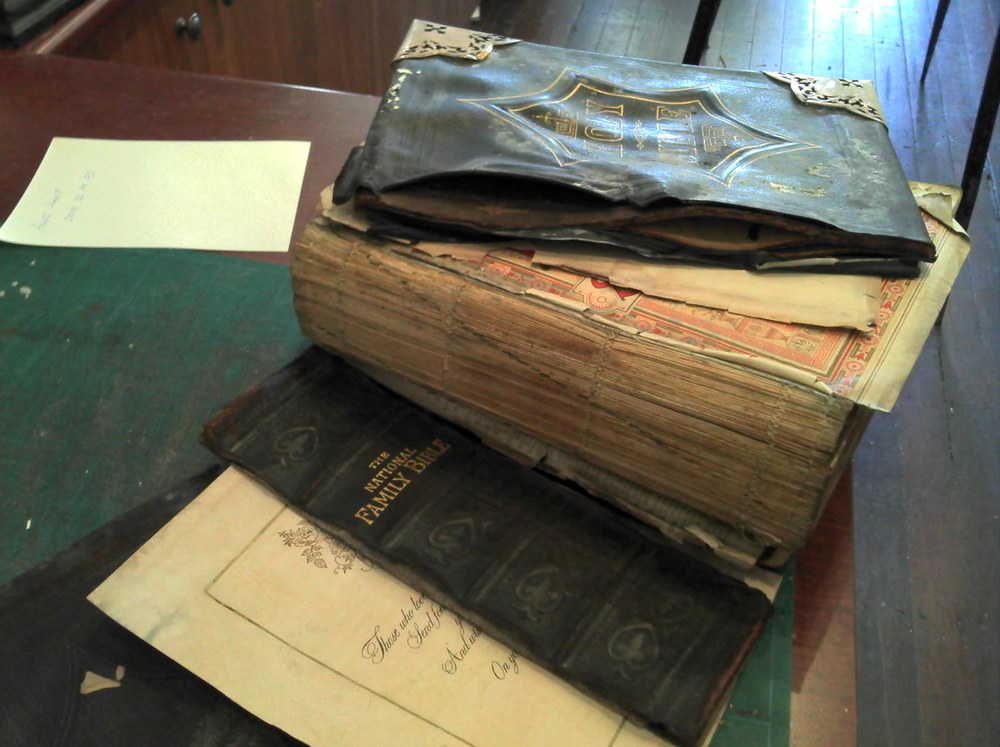 Victorian Bible before restoration