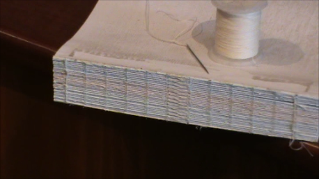 The completed sewn book block